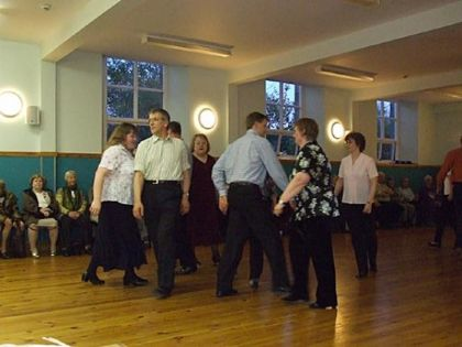 The 'Orkney Reel' being danced in King Street Halls, Kirkwall in May 2007