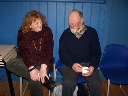 i'm sure felicity isn't really boring billy jolly, despite him looking rather sleepy!
