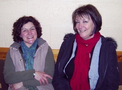 catherine baikie also sang an allie windwick song, 'partans in his creel', here with lorraine