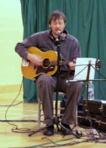 brian cromarty, part of the best folk band in the world (as voted at the trads in 2008!),