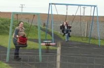 ... while emily was being a bit more grown up, giving josie a go in the swing instead!