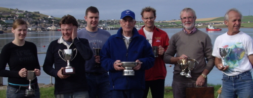 trophy winners from stromness regatta 2009